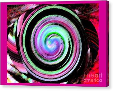 Canvas Print featuring the digital art Shell Shocked Frame by Catherine Lott