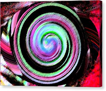 Canvas Print featuring the digital art Shell Shocked Unframed by Catherine Lott