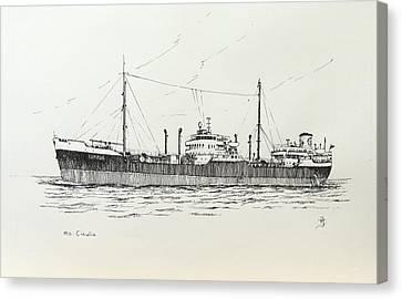 Shelltanker Cinulia Canvas Print by Frits Janse