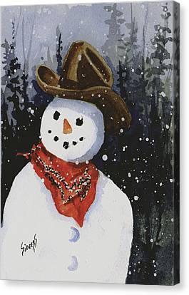 Shelly's Snowman Canvas Print by Sam Sidders