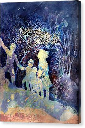 Shelter From The Storm Canvas Print by Marilyn Jacobson