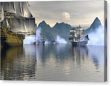 Shelter Harbor 2 Canvas Print by Claude McCoy