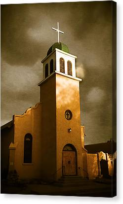 The Wooden Cross Canvas Print - Shelter In The Storm by Steven Bateson