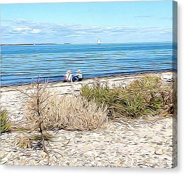 Shelter Island Beach Canvas Print