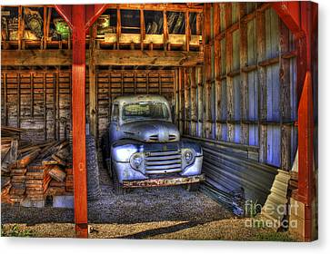 Shelter Me Old Ford Pickup Truck  Canvas Print by Reid Callaway