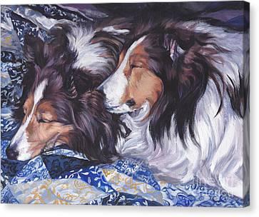 Sheltie Love Canvas Print by Lee Ann Shepard