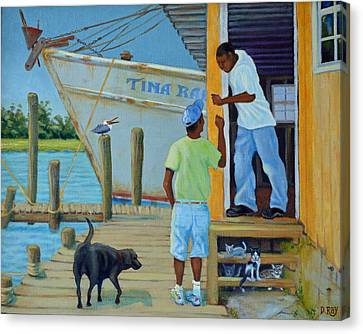 Shem Creek Docks Week End Canvas Print