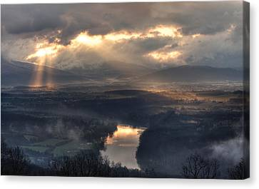 Shenandoah Light Canvas Print by Lara Ellis