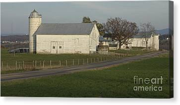 Shenandoah Valley Farm Panorama Canvas Print by Anna Lisa Yoder
