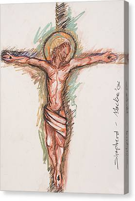 Crucifixtion Canvas Print - Shepherd by Deryl Daniel Mackie