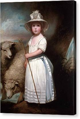 Shepherd Girl. Little Bo-peep Canvas Print by George Romney