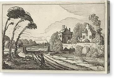 Country Roads Canvas Print - Shepherd In A Landscape, Gillis Van Scheyndel by Gillis Van Scheyndel (i)