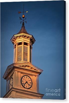 Shepherd University - Mcmurran Clock Tower At Twilight Canvas Print by Julia Springer