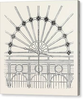 Shepherds Electric Clock For The Crystal Palace Hands Canvas Print