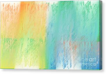 Sherbet Abstract Canvas Print by Andee Design