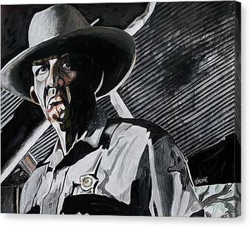 Law Enforcement Canvas Print - Sheriff Hoyt by Jeremy Moore