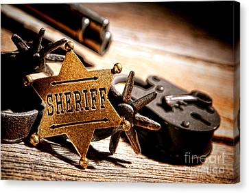 Sheriff Tools Canvas Print by Olivier Le Queinec