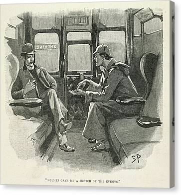 Law Enforcement Canvas Print - Sherlock Holmes And Dr. Watson by British Library