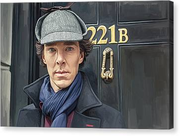 Sherlock Holmes Artwork Canvas Print by Sheraz A