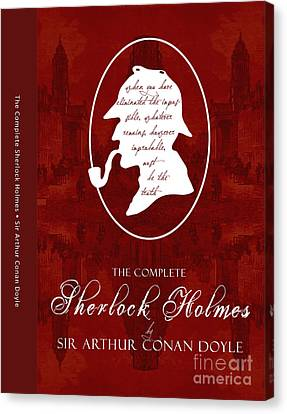 Sherlock Holmes Book Cover Poster Art 1 Canvas Print by Nishanth Gopinathan