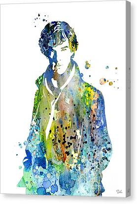 Sherlock Holmes Canvas Print by Luke and Slavi