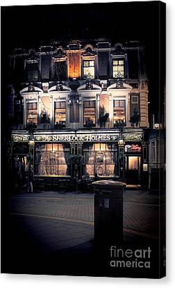 Mailboxes Canvas Print - Sherlock Holmes Pub by Jasna Buncic