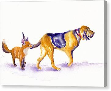 Sherlock's Day Off Canvas Print by Debra Hall