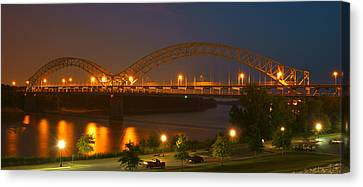 Indiana Scenes Canvas Print - Sherman Minton Bridge - New Albany by Mike McGlothlen