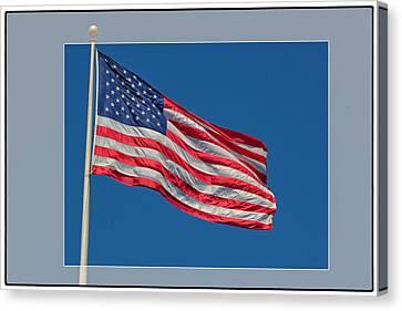She's A Grand Old Flag Canvas Print by Floyd Hopper