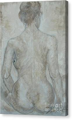 Canvas Print featuring the painting She's The One by Delona Seserman