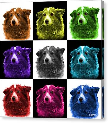 Shetland Sheepdog Dog Art 9973 - V2 - M Canvas Print