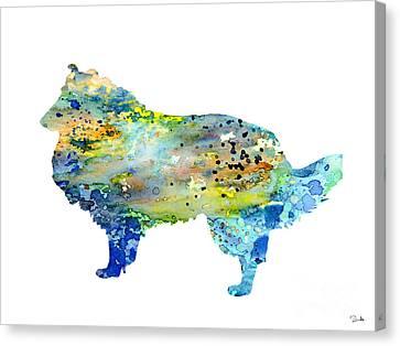 Shetland Sheepdog Canvas Print by Luke and Slavi