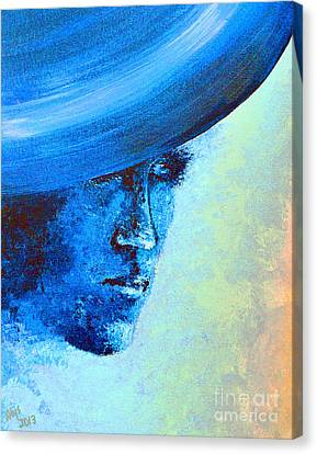 Shi Di Has The Blues Poster Canvas Print by Alys Caviness-Gober