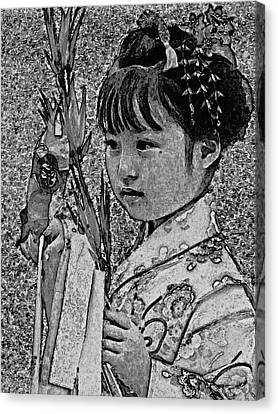 Shichi-go-san Girl Canvas Print