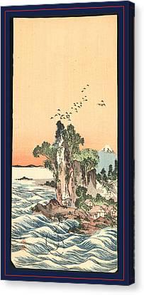 Shichirigahama Zu View Of Shichirigahama Canvas Print by Buncho, Tani (1763-1840), Japanese