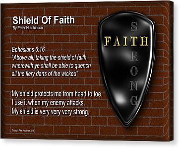 Shield Of Faith Canvas Print