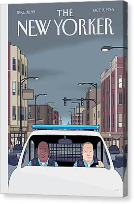 Shift Canvas Print by Chris Ware