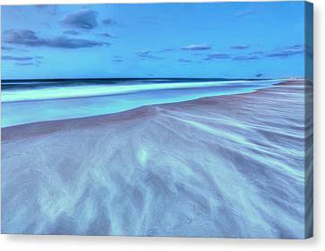 Shifting Sands On Frisco Beach Outer Banks II Canvas Print by Dan Carmichael