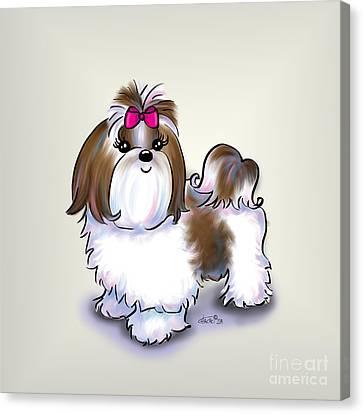 Shih Tzu Beauty Canvas Print by Catia Cho