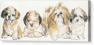 Shih Tzu Puppies Canvas Print by Barbara Keith
