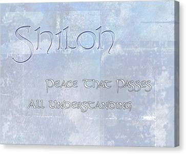 Peace Canvas Print - Shiloh - Peace That Passes Understanding. by Christopher Gaston
