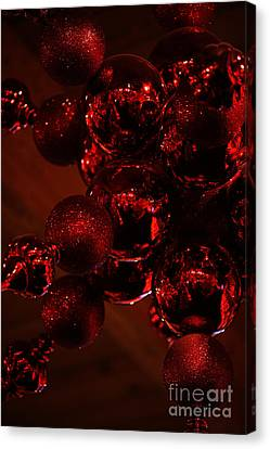 Shimmer In Red Canvas Print by Linda Shafer