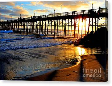 Shimmering Pier Canvas Print