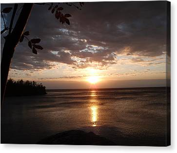 Canvas Print featuring the photograph Shimmering Sunrise by James Peterson