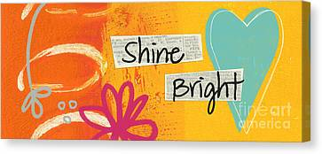 Heart Canvas Print - Shine Bright by Linda Woods