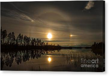 Canvas Print featuring the photograph shine like a Halo by Rose-Maries Pictures