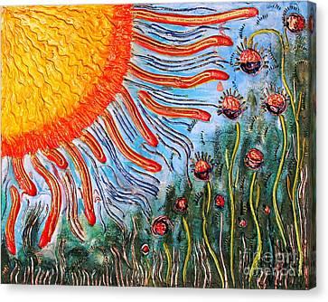 Shine On Me.. Canvas Print by Jolanta Anna Karolska