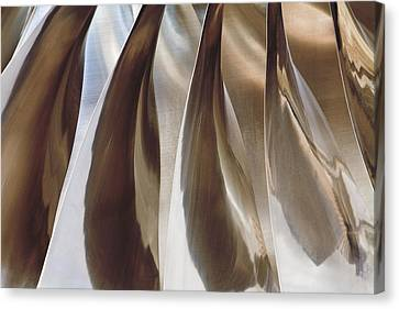Shine On Metal II - Bronze Tones Canvas Print by Natalie Kinnear