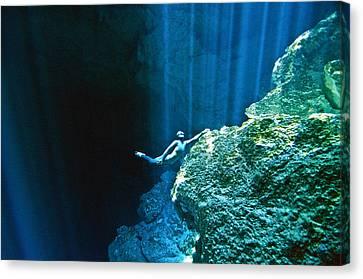 Apnea Canvas Print - Shine by One ocean One breath