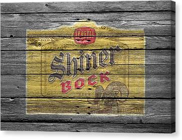 Handcrafted Canvas Print - Shiner Bock by Joe Hamilton